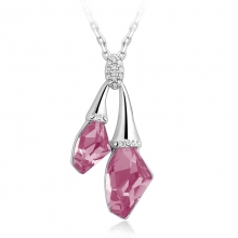 Swarovski Elements Rose 18K White Gold Plated Necklace