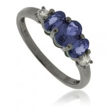 3 Stone Tanzanite Ring