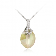 Amazing Sterling Silver Swarovski Crystal Pendant