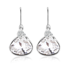 Beautiful Swarovski Crystal White Earrings