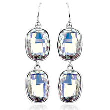 Beautiful White Swarovski Drop Earrings