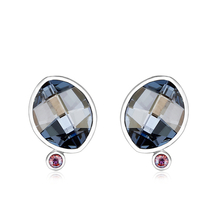 Blue Sterling Silver Swarovski Crystal Earrings