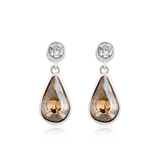 Swarovski crystal Amber Color Earrings