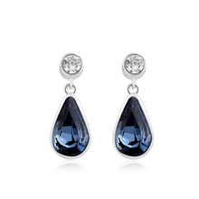Swarovski Crystal Blue Earrings