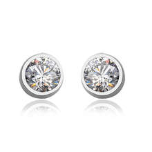 White Sterling Silver Swarovski Earrings