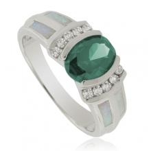 Australian Opal and Alexandrite Silver Ring