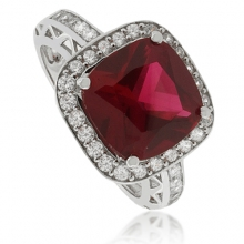 Beautiful Red Ruby .925 Silver Ring