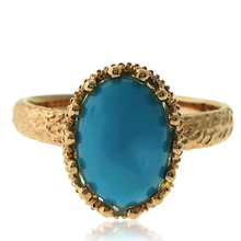 Natural Turquoise 18k Yellow Gold Ring