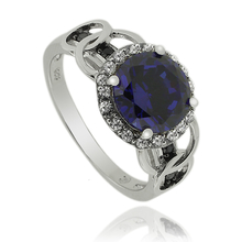 Beautiful Round Cut Tanzanite Stering Silver Ring