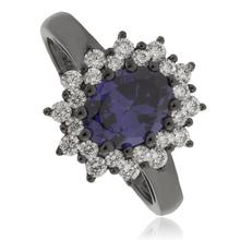 Princess Kate Tanzanite Black Silver Ring