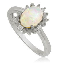 White Opal and Sterling Silver Ring