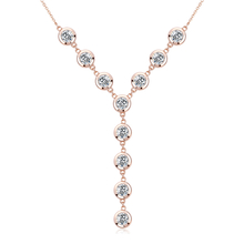 Swarovski Crystal Necklace With Rose Gold