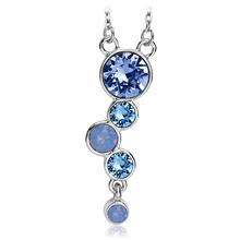 Swarovski Necklace In Blue Tones