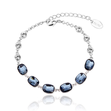 Beautiful Bracelet With Blue Crystals