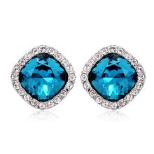Blue Swarovski Crystal Earrings
