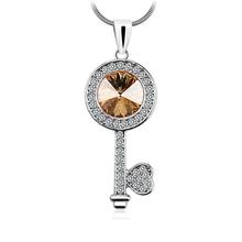 Orange Key Swarovski Necklace