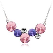 Pink Circles Swarovski Necklace