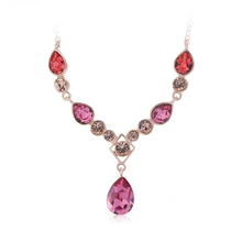 Elegant Pink Swarovski Necklace