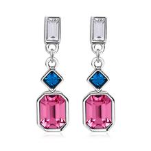 Pink Swarovski Crystal Earrings