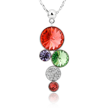 Beautiful Swarovski Red Circles Necklace