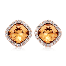 Beautiful Swarovski Earrings With Gold Plated
