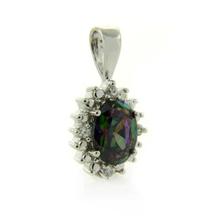 Mystic Topaz Rainbow Gemstone Pendant