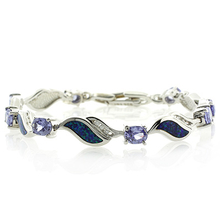 Australian Opal with Tanzanite Bracelet