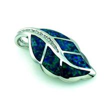 Australian Opal Leaf Pendant