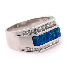 Australian Opal Mens Ring