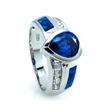 Beautiful Australian Opal Ring with Tanzanite
