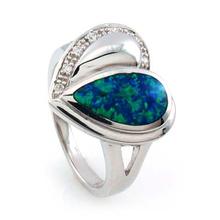 Heart Australian Opal Ring