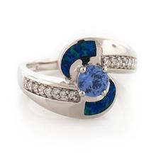 Tanzanite and Australian Blue Opal Ring