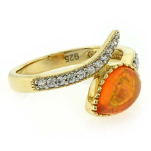 Fire Jelly Opal Jewelery Ring