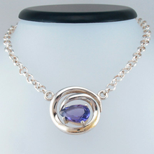 Genuine High Quality Amethyst Silver Necklace
