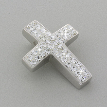 Swarovski Crystal Silver Cross Pendant