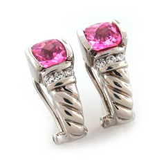 Inspired Pink Topaz Earrings