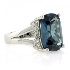 Alexandrite Changing Color Silver Ring