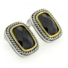 Designer Inspired Onyx Earrings