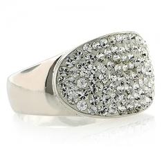 Silver Swarovski Crystals Ring