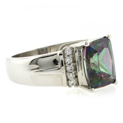 Rainbow Mystic Topaz Gemstone Ring