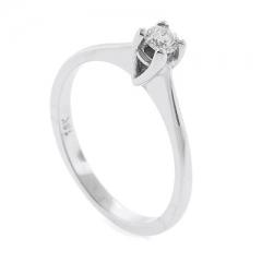 0.13 ct tw Diamond Ring Setting in 18K White Gold