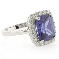 High Quality Tanzanite Sterling Silver Ring