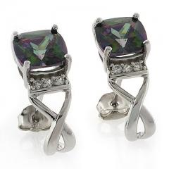 Mystic Topaz Cushion Cut Earrings