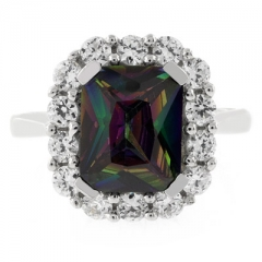 High Quality Rainbow Mystic Topaz Ring