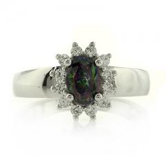 Mystic Topaz Silver Ring Quality Talks