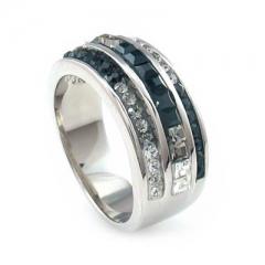 Swarovski Crystals Silver Ring