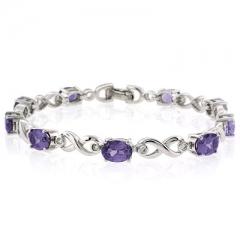 Alexandrite Silver Bracelet