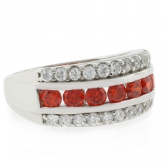 Fire Opal Ring Channel Setting