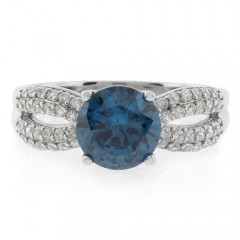 Change Color Alexandrite Ring Round Cut Stone