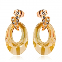 Beautiful Swarovski Elements 18K Yellow Gold Plated Earrings
